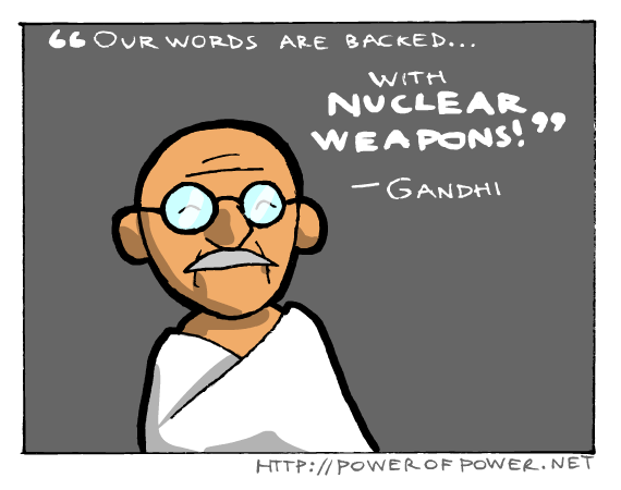 Gandhi is so mean D,: